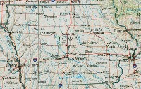 Reference geography Map of IA State