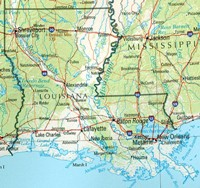 Louisiana Reference Map