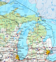 Michigan Reference Map