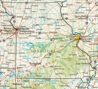 Reference physical Map of MO State