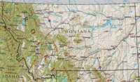 Reference geography Map of MT State
