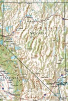 Reference geography Map of NV State