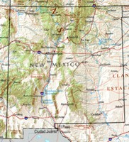 Reference physical Map of NM State
