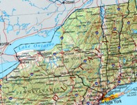 Reference geography Map of NY State