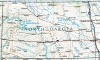 Reference geography Map of ND State