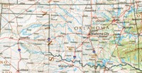 Reference geography Map of OK State
