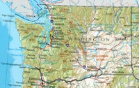 Reference geography Map of WA State
