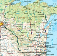 Wisconsin Reference Map