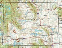 Wyoming Reference Map