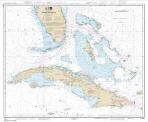 Buy map Straits of Florida and Approaches Nautical Chart (11013) by NOAA from Florida Maps Store