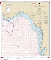 Buy map Tampa Bay to Cape San Blas (Oil and Gas Leasing Areas) Nautical Chart (1114A) by NOAA from Florida Maps Store