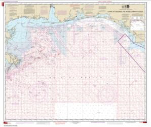Buy map Cape St. George to Mississippi Passes (Oil and Gas Leasing Areas) Nautical Chart (1115A) by NOAA from Mississippi Maps Store