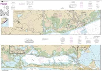 Buy map Intracoastal Waterway Galveston Bay to Cedar Lakes Nautical Chart (11322) by NOAA from Texas Maps Store