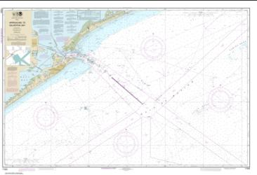 Buy map Approaches to Galveston Bay Nautical Chart (11323) by NOAA from Texas Maps Store