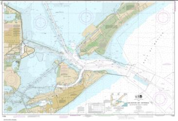 Buy map Galveston Bay Entrance Galveston and Texas City Harbors Nautical Chart (11324) by NOAA from Texas Maps Store