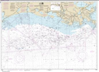 Buy map Mississippi River to Galveston Nautical Chart (11340) by NOAA from Texas Maps Store