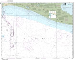 Buy map Rollover Bayou to Calcasieu Pass Nautical Chart (11344) by NOAA from United States Maps Store