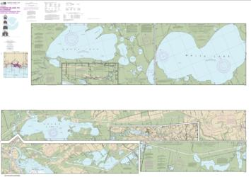 Buy map Intracoastal Waterway Forked Island to Ellender, including the Mermantau River, Grand Lake and White Lake Nautical Chart (11348) by NOAA from United States Maps Store