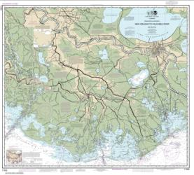 Buy map Intracoastal Waterway New Orleans to Calcasieu River East Section Nautical Chart (11352) by NOAA from United States Maps Store
