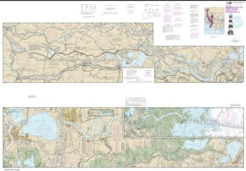 Buy map Intracoastal Waterway Morgan City to Port Allen, including the Atchafalaya River Nautical Chart (11354) by NOAA from United States Maps Store