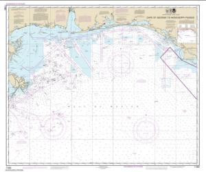 Buy map Cape St. George to Mississippi Passes Nautical Chart (11360) by NOAA from Florida Maps Store