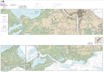 Buy map Intracoastal Waterway Waveland to Catahoula Bay Nautical Chart (11367) by NOAA from United States Maps Store