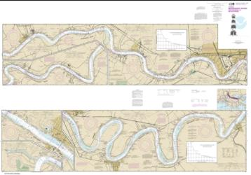 Buy map Mississippi River-New Orleans to Baton Rouge Nautical Chart (11370) by NOAA from United States Maps Store