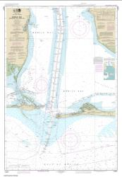 Buy map Mobile Bay Approaches and Lower Half Nautical Chart (11377) by NOAA from United States Maps Store