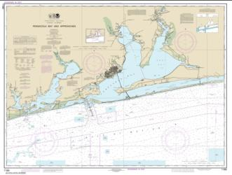 Buy map Pensacola Bay and approaches Nautical Chart (11382) by NOAA from Florida Maps Store
