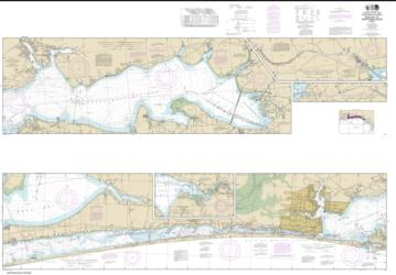 Buy map Intracoastal Waterway West Bay to Santa Rosa Sound Nautical Chart (11385) by NOAA from Florida Maps Store