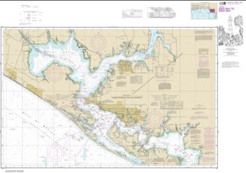 Buy map Intracoastal Waterway East Bay to West Bay Nautical Chart (11390) by NOAA from Florida Maps Store