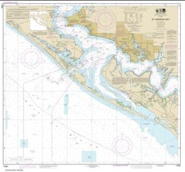 Buy map St. Andrew Bay Nautical Chart (11391) by NOAA from Florida Maps Store