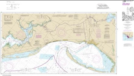 Buy map Intracoastal Waterway Lake Wimico to East Bay Nautical Chart (11393) by NOAA from Florida Maps Store