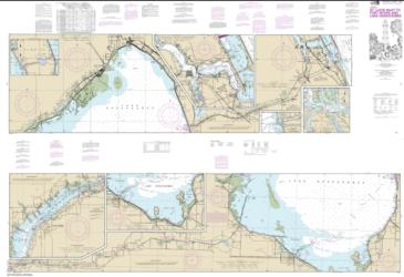 Buy map Okeechobee Waterway St. Lucie Inlet to Fort Myers; Lake Okeechobee Nautical Chart (11428) by NOAA from Florida Maps Store