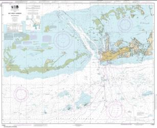 Buy map Key West Harbor and Approaches Nautical Chart (11441) by NOAA from Florida Maps Store