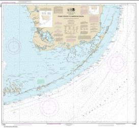 Buy map Fowey Rocks to American Shoal Nautical Chart (11450) by NOAA from Florida Maps Store