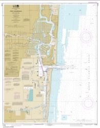Buy map Fort Lauderdale Port Everglades Nautical Chart (11470) by NOAA from Florida Maps Store