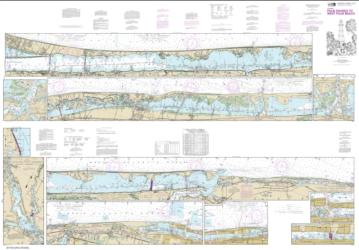 Buy map Intracoastal Waterway Palm Shores to West Palm Beach; Loxahatchee River Nautical Chart (11472) by NOAA from Florida Maps Store