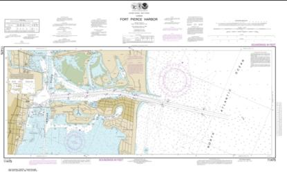 Buy map Fort Pierce Harbor Nautical Chart (11475) by NOAA from Florida Maps Store