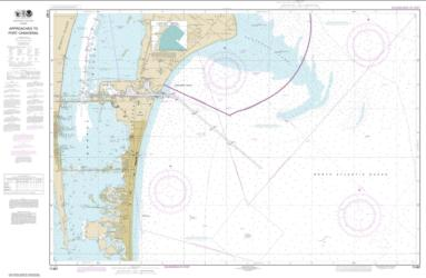 Buy map Approaches to Port Canaveral Nautical Chart (11481) by NOAA from Florida Maps Store