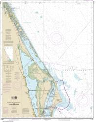 Buy map Ponce de Leon Inlet to Cape Canaveral Nautical Chart (11484) by NOAA from Florida Maps Store