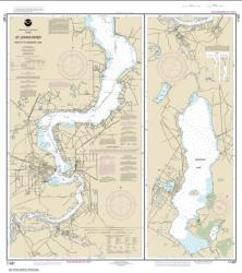 Buy map St. Johns River Racy Point to Crescent Lake Nautical Chart (11487) by NOAA from Florida Maps Store