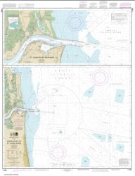 Buy map Approaches to St. Johns River; St. Johns River Entrance Nautical Chart (11490) by NOAA from Florida Maps Store