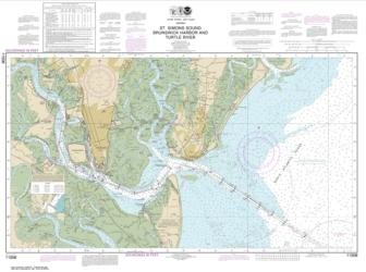 Buy map St. Simons Sound, Brunswick Harbor and Turtle River Nautical Chart (11506) by NOAA from Georgia Maps Store