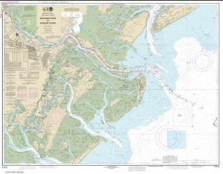 Buy map Savannah River and Wassaw Sound Nautical Chart (11512) by NOAA from Georgia Maps Store