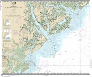 Buy map St. Helena Sound to Savannah River Nautical Chart (11513) by NOAA from South Carolina Maps Store
