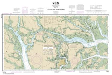 Buy map Parts of Coosaw and Broad Rivers Nautical Chart (11519) by NOAA from South Carolina Maps Store