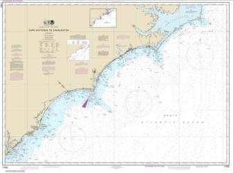 Buy map Cape Hatteras to Charleston Nautical Chart (11520) by NOAA from North Carolina Maps Store