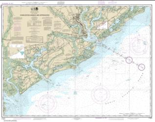 Buy map Charleston Harbor and Approaches Nautical Chart (11521) by NOAA from North Carolina Maps Store