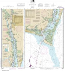 Buy map Cape Fear River Cape Fear to Wilmington Nautical Chart (11537) by NOAA from North Carolina Maps Store